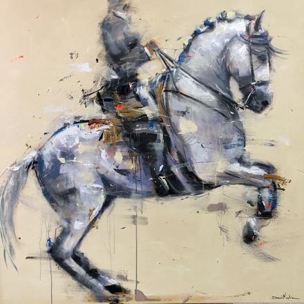 RAMPANT I, acrylic over canvas.  (120x120cm)