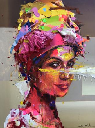 HUM XIX, acrylic on canvas. (80x60cm)