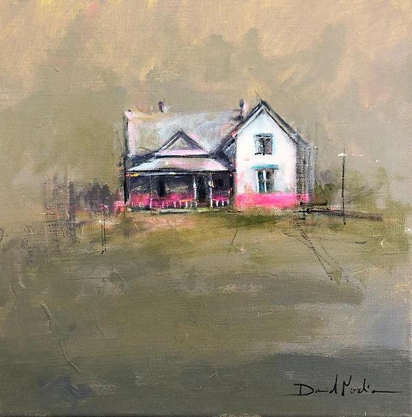 HOME VI, acrylic over canvas. (40x40cm)