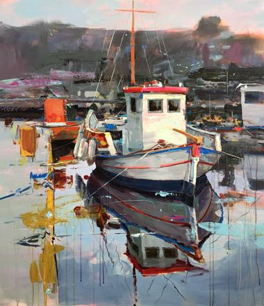 BOAT I, acrylic over canvas. (100x80cm)