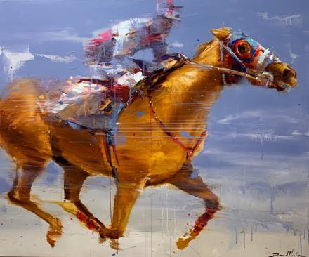 RACE I, acrylic over canvas. (120x100cm)