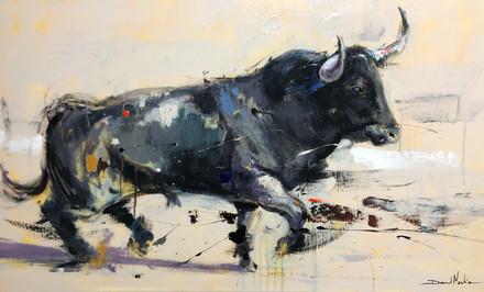 BULL V, acrylic over canvas. (120x60cm)