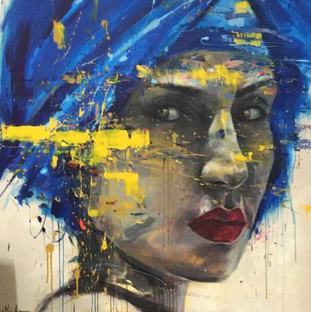HUM IX, acrylic on canvas. (140x140cm)