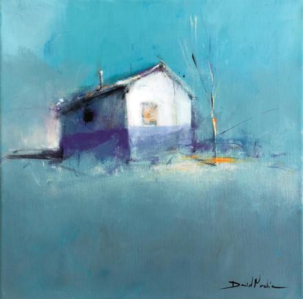 HOME II, acrylic over canvas. (40x40cm)