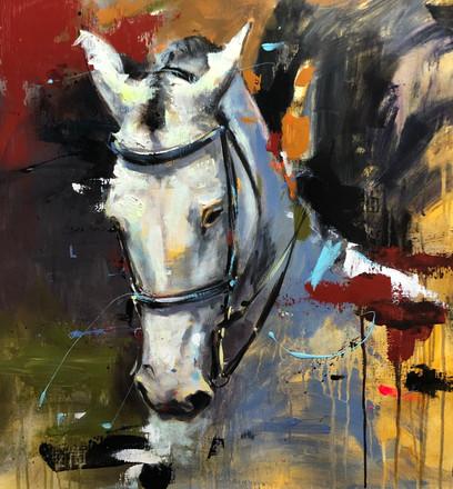 CAB I, acrylic over canvas. (60x60cm)