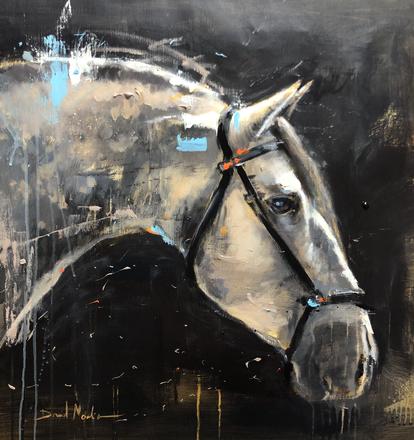 CAB V, acrylic over canvas.  (60x60cm)