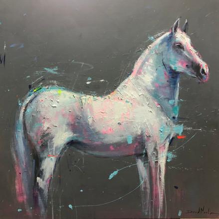 ROMANTICO I, acrylic over canvas. (80x80cm)