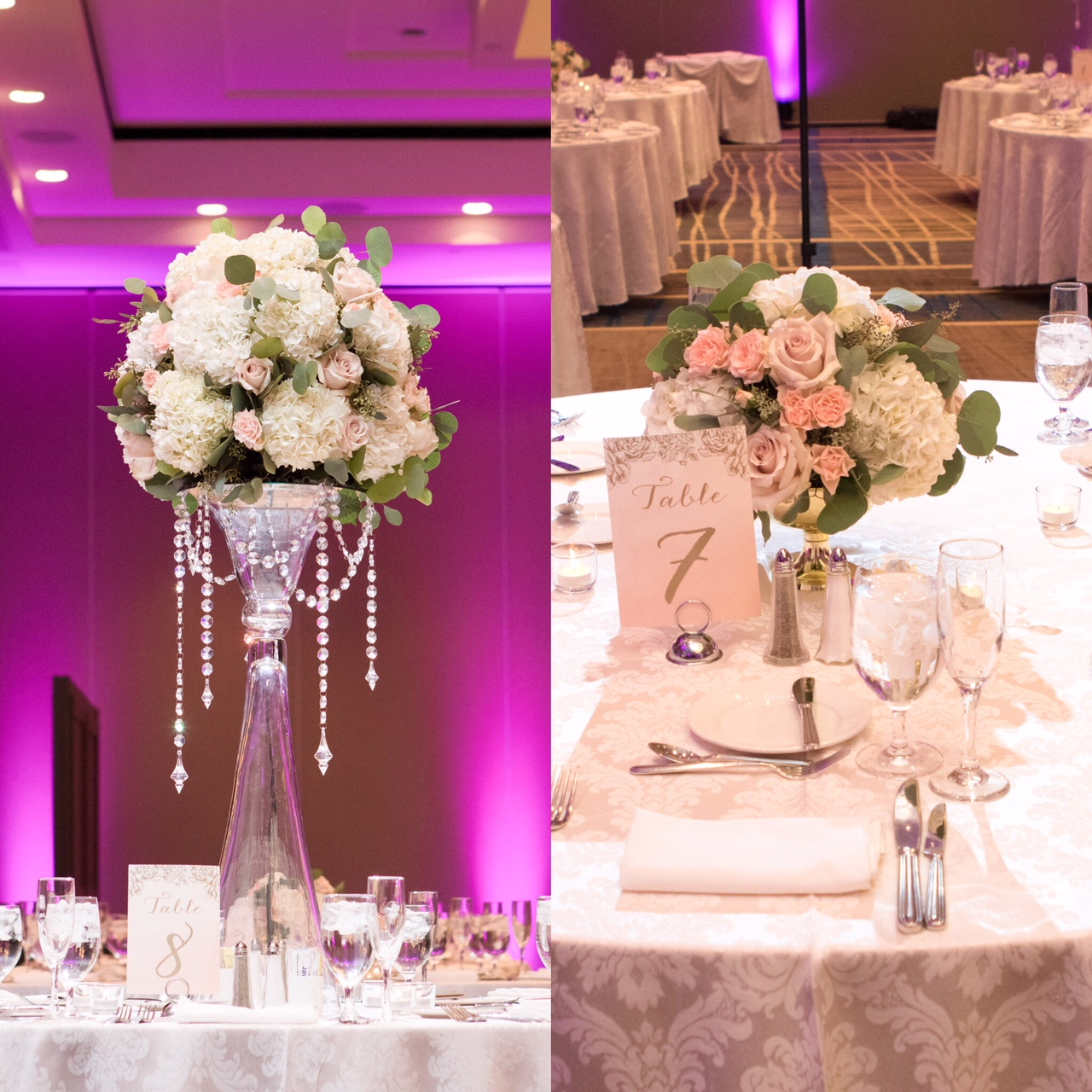 high low centerpieces