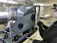 送風機年次点検 HEPAフィルター交換作業