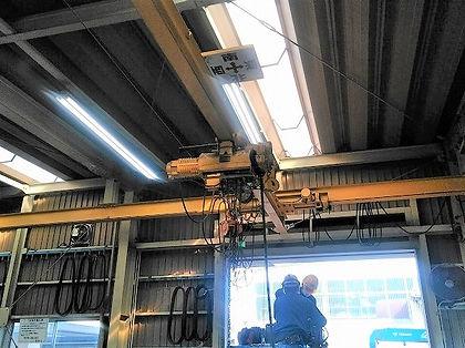 ワイヤーホイストの更新工事