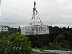 新規全自動梱函機搬入工事