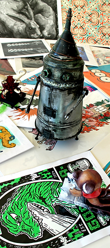 prints, original art, munny, munnyworld, tricky, foomi, raffi, merchandise, editioned priunts