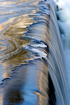 Ice Approaching Waterfall - Boonton