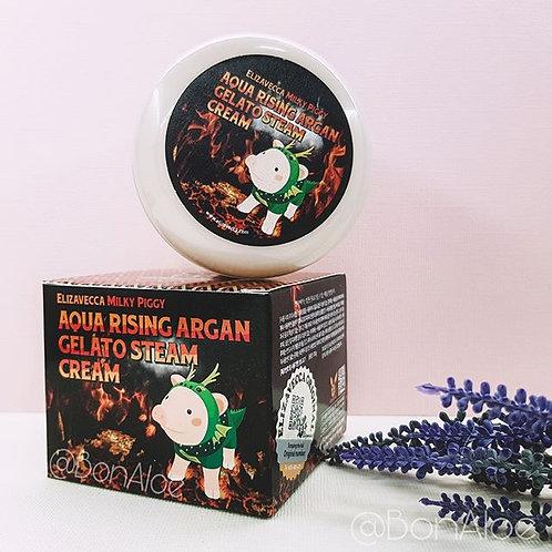 Паровой крем с аргановым маслом Elizavecca Aqua Rising Argan Gelato Steam Cream