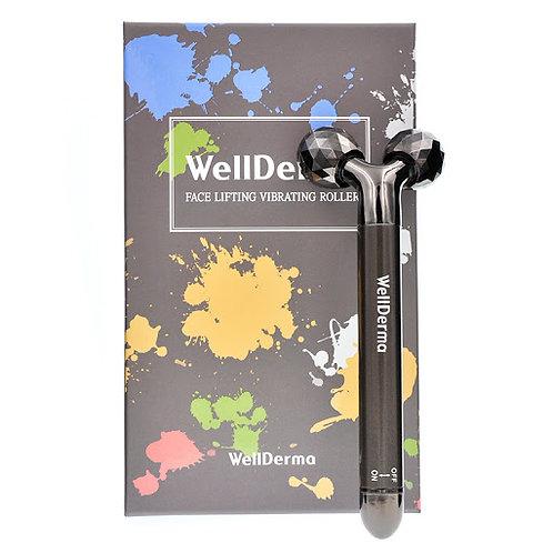 Роликовый массажер с вибрацией для лифтинга кожи лица  WellDerma Face Lifting Vi