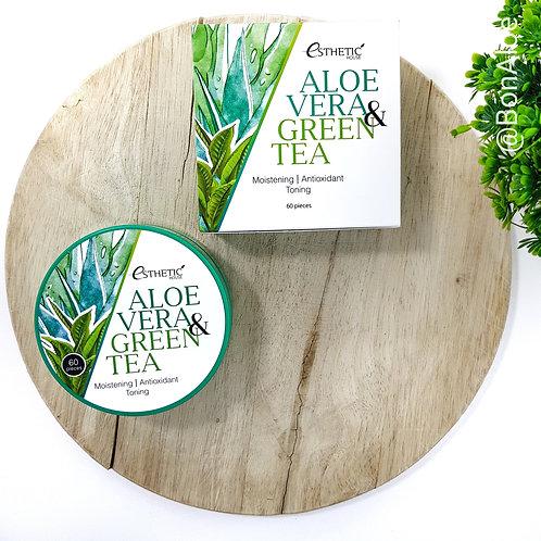 Гидрогелевые патчи для глаз с алоэ вера и зеленым чаем Esthetic House Aloe Vera