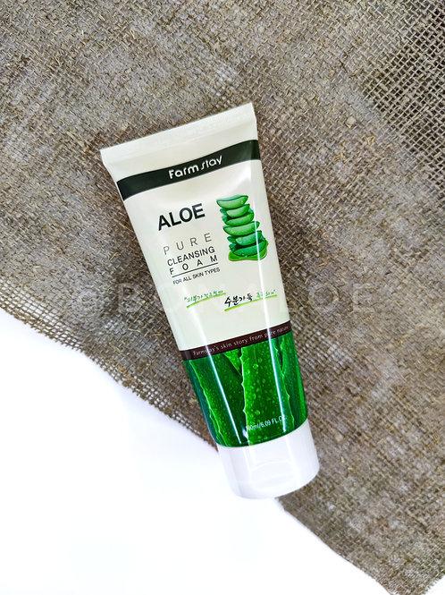 Пенка для умывания с экстрактом алоэ FarmStay Aloe Pure