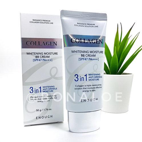 BB крем с коллагеном 3 в 1 SPF47 PA+++ ENOUGH W Collagen Pure Shining Foam Clean