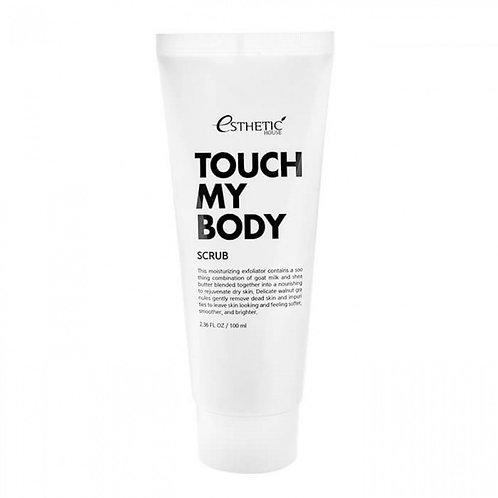 Отшелушивающий скраб для тела с козьим молоком  Esthetic House Touch My Body