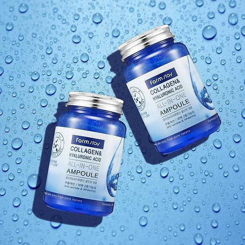 Ампульная сыворотка с гиалуроновой кислотой и коллагеном FarmStay Collagen Hyalu