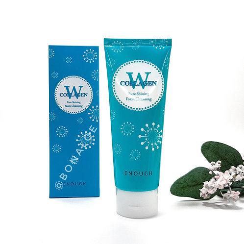 Очищающая пенка с коллагеном для сияния кожи ENOUGH W Collagen Pure Shining Foam