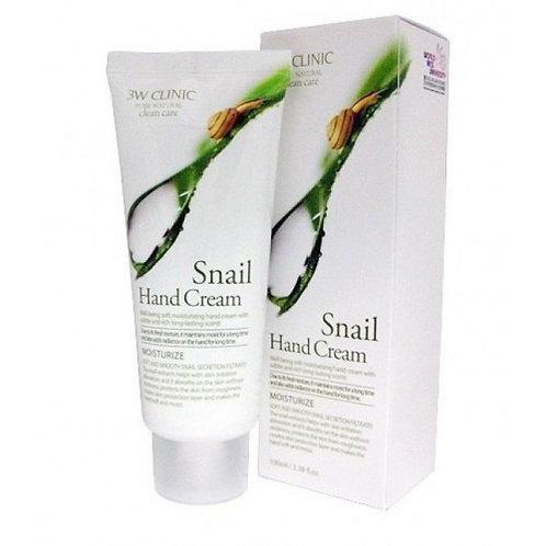 Крем для рук увлажняющий УЛИТОЧНЫЙ МУЦИН 3W CLINIC Snail Hand Cream, 100 мл