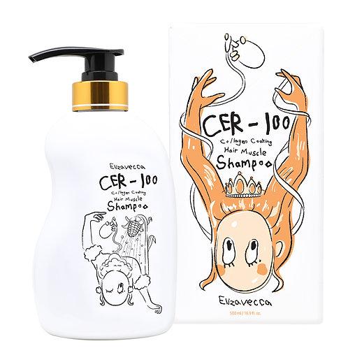 Шампунь для волос с коллагеном Elizavecca CER-100 Collagen Coating Hair Muscle S