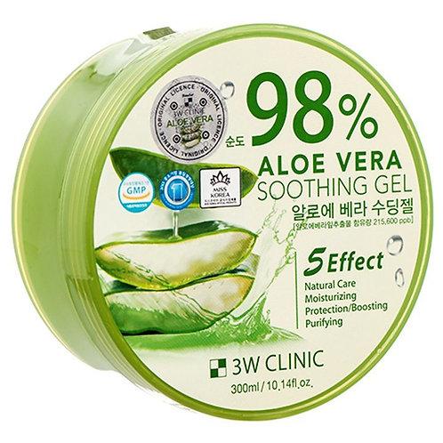 Гель универсальный АЛОЭ 3W CLINIC Aloe Vera Soothing Gel 98%, 300 гр