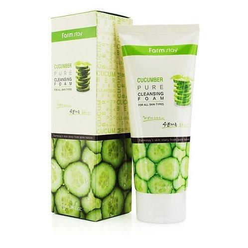 Увлажняющая пенка для умывания с экстрактом огурца FarmStay Cucumber Pure Cleans