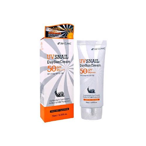Ежедневный солнцезащитный крем с муцином улитки 3W CLINIC UV Snail Day Sun Cream