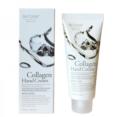 Крем для рук увлажняющий с КОЛЛАГЕНОМ 3W CLINIC Collagen Hand Cream, 100 мл