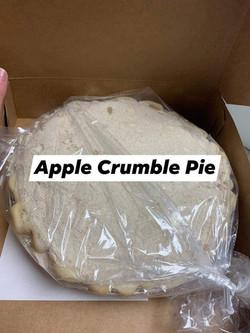 Homemade Apple Crumble Pie