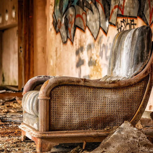 the pair of antique chairs