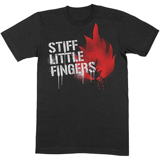 STIFF LITTLE FINGERS UNISEX TEE: GRAFFITI