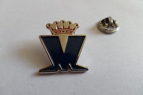 Madness Blue Red silver Enamel Badge
