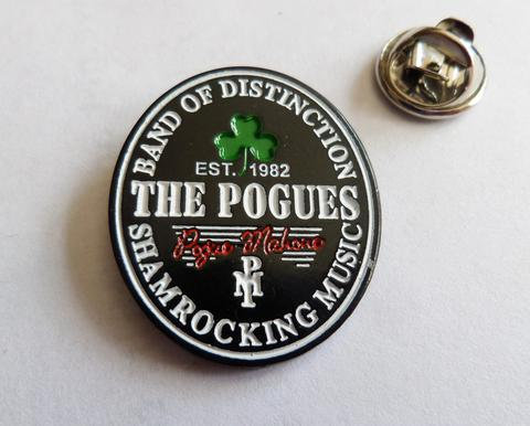 The Pogues Folk Punk  Guinness style  Enamel Badge