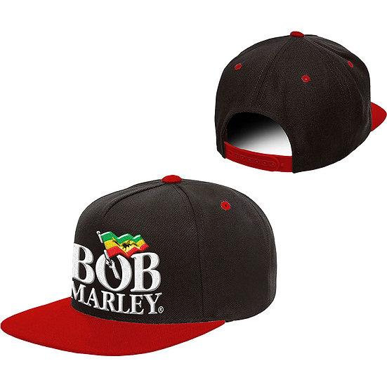 BOB MARLEY UNISEX SNAPBACK CAP: LOGO