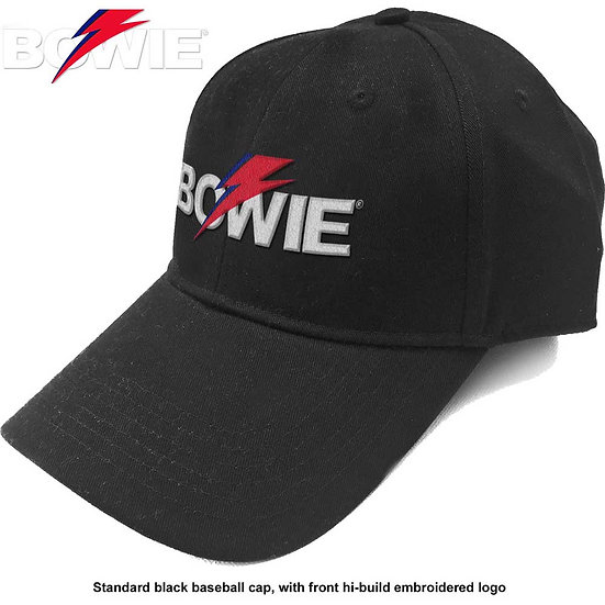 DAVID BOWIE UNISEX BASEBALL CAP: ALADDIN SANE BOLT LOGO