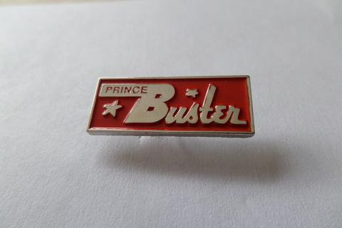 Prince Buster Red/Silver Enamel Badge