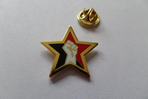 Fist Star Gold - Enamel Badge