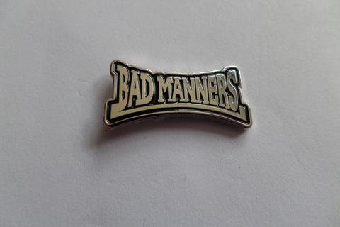 Bad Manners Silver  Enamel Badge