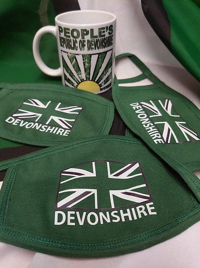 Devonshire Flag Face Mask