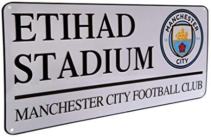 Manchester City street sign - ETIHAD