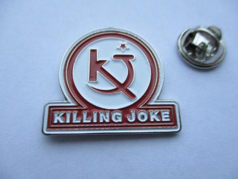 Killing Joke Logo Red  Enamel Badge