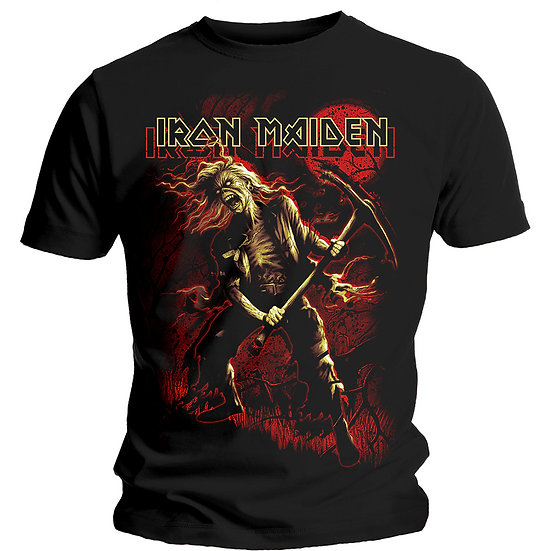 IRON MAIDEN UNISEX TEE: BENJAMIN BREEG RED GRAPHIC