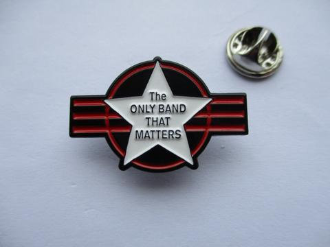 The Clash - The Only Band That Matters (black) Enamel Badge