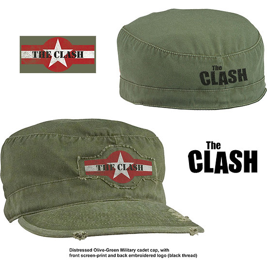 THE CLASH UNISEX MILITARY CAP: STAR LOGO (DISTRESSED) (SMALL/MEDIUM)