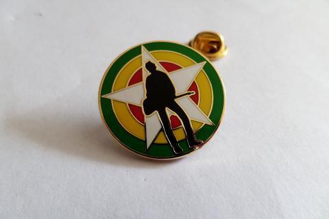 Joe Strummer gold/Full colour  Enamel Badge