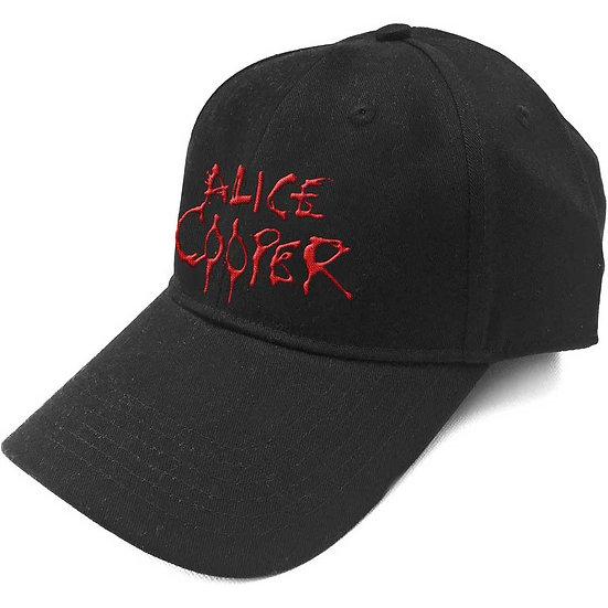 ALICE COOPER UNISEX BASEBALL CAP: DRIPPING LOGO