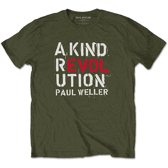 PAUL WELLER UNISEX TEE: A KIND REVOLUTION